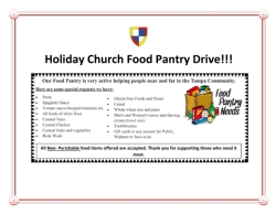 Food Drive Starts Today!