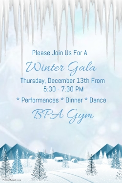 Winter Gala Next Week!