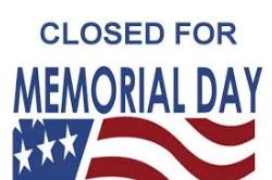 BPA Closed Monday (5/27) for Memorial Day